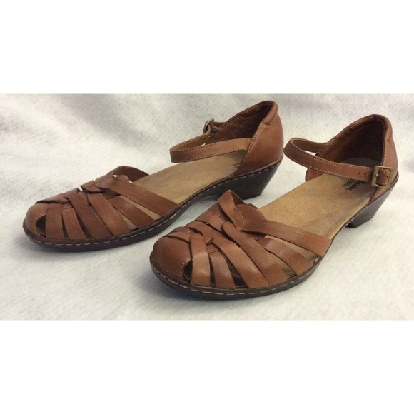 e0f0ee5f93aa7 Clarks Shoes | Womens Leather Ankle Strap Brown 11 | Poshmark